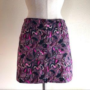 Zara traufaluc women's front button mini skirt SM.
